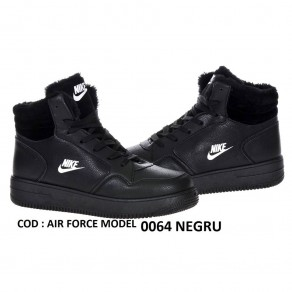 1+1 GRATIS  GHETE NIKE AIR FORCE COD 6600 BLACK IMBLANITE