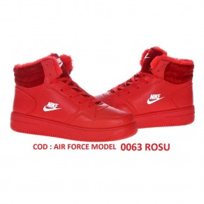 1+1 GRATIS  GHETE NIKE AIR FORCE COD 0063 RED IMBLANITE