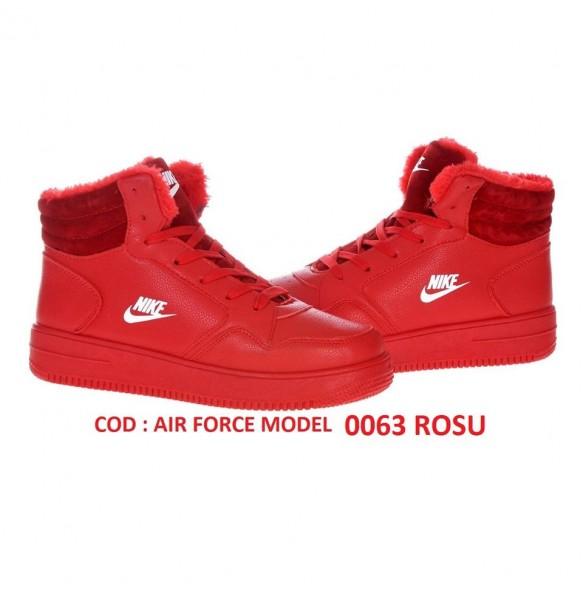 GHETE NIKE AIR FORCE COD 0063 RED IMBLANITE