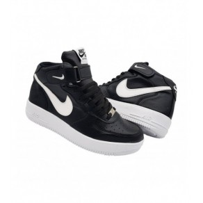 GHETE NIKE AIR FORCE NEGRU-ALB
