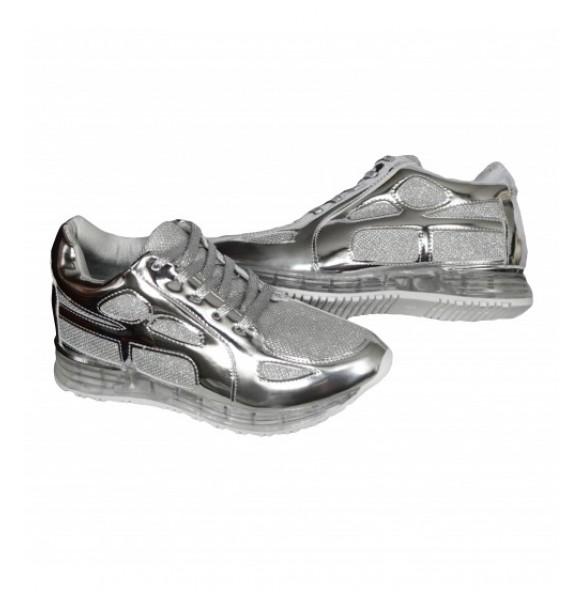 1+1 GRATIS  Adidasi Dama Cod A19 Silver