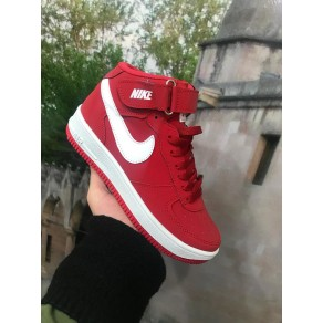 1+1 GRATIS  GHETE NIKE AIR FORCE ROSU/ALB  COD 1006